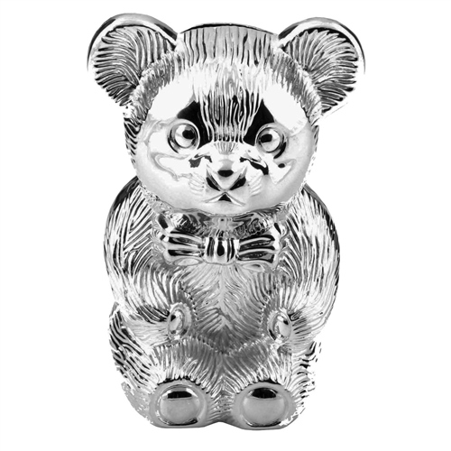 Bambino Silverplated Money Box - Bear  - Click to view larger image