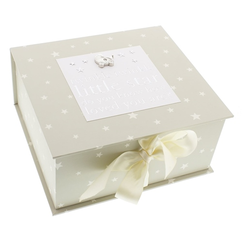 Bambino Square Keepsake Box Twinkle Twinkle  - Click to view larger image