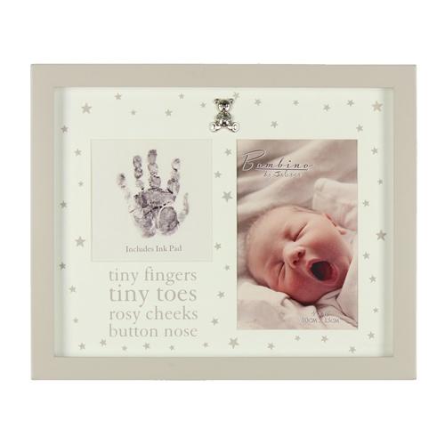Image of Bambino MDF Photo Frame Tiny Fingers & Ink Pad