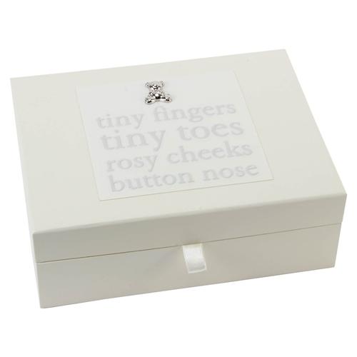 Bambino Baby Keepsake Box with Drawers  - Click to view larger image