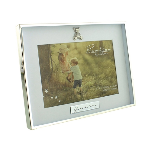 Bambino Silverplated Photo Frame  Grandchildren  5 x 7