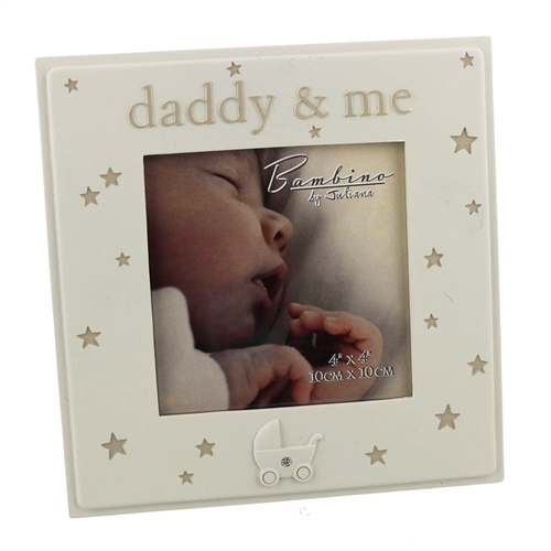"Bambino Resin Photo Frame 4"" x 4""  ""Daddy & Me""  - Click to view larger image"