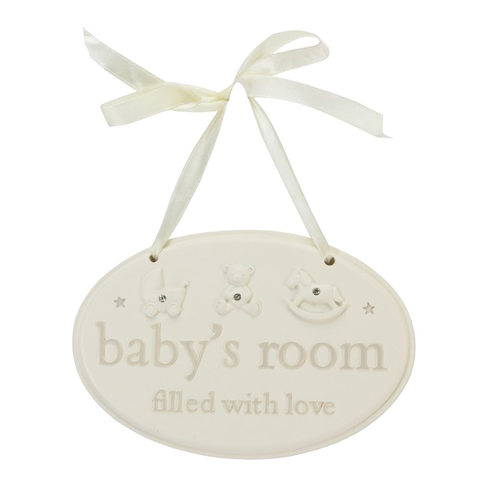 "Bambino - Resin Hanging Plaque "" Baby's Room """