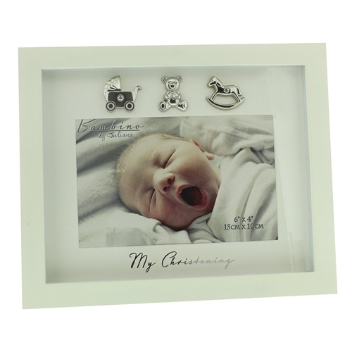 "Bambino Cream MDF Photo Frame ""My Christening"" - 6"" x 4"""