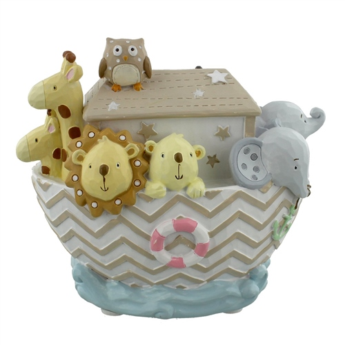 Bambino Noah's Ark Resin Money Bank - Boat  - Click to view larger image