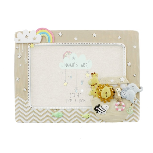 "Bambino Noah's Ark Resin Photo Frame 6"" x 4""  - Click to view larger image"