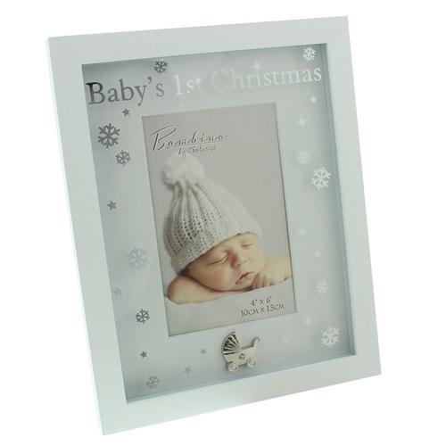 "Image of Bambino MDF Baby's 1st Christmas Frame 4"" x 6"" XM"