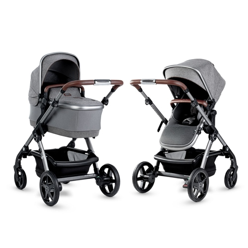 Silver Cross Wave Pushchair and Carrycot - Zinc