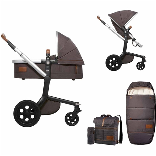 Joolz Day Discovery Pram + Footmuff Mountain Grey - Click to view larger image