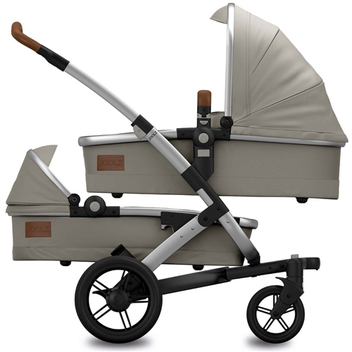 Joolz Geo Earth II Twin Elephant Grey in Twin configuration. - Click to view larger image