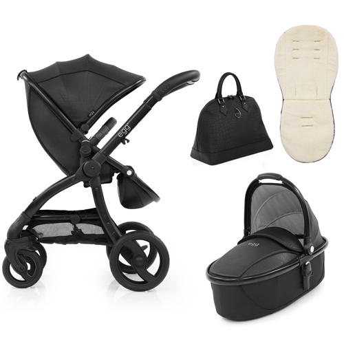 egg Stroller Jurassic Special Edition Package + Carrycot Jurassic Black Package - Click to view larger image