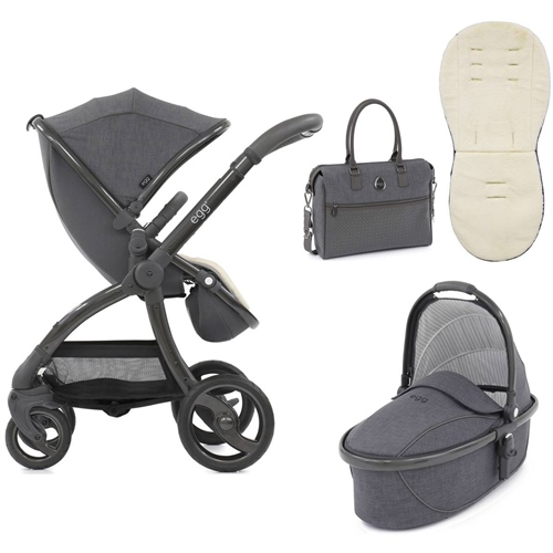 egg Stroller Quantum Grey Special Edition Package + Carrycot Quantum Grey - Click to view larger image