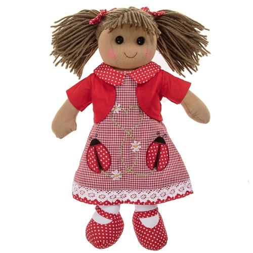 Powell Craft Medium Rag Doll Ladybird Dress