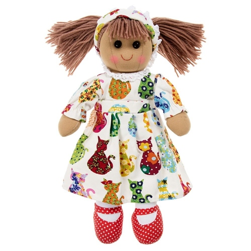 Powell Craft Medium Rag Doll Cat Print Dress  - Click to view larger image