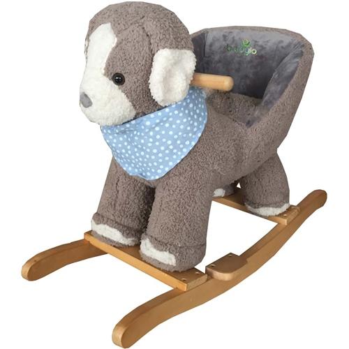 BabyLo Rocking Grey Dog with sound