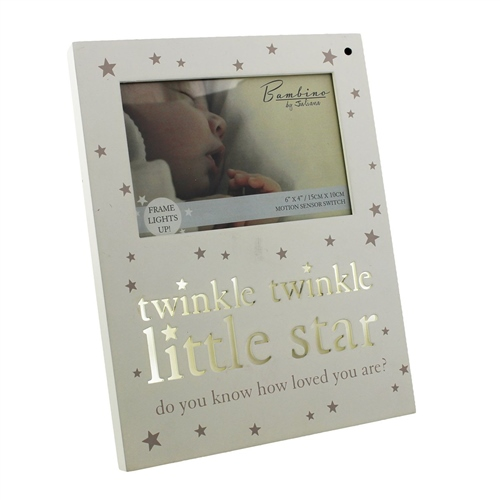 Bambino - 'Light Up' MDF Photo Frame 'Twinkle Twinkle'