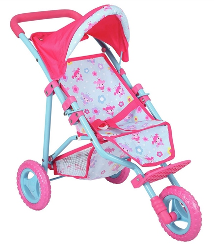 Dolls World - 3 Wheel Folding Dolls Stroller