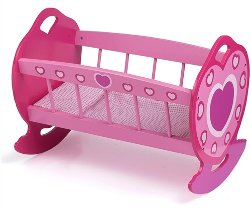 Dolls World - Wooden Rocking Cradle