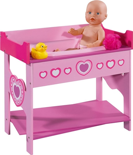 Dolls World Wooden Changing Table & Bath