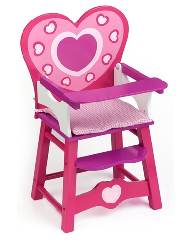 Dolls World - Wooden High Chair