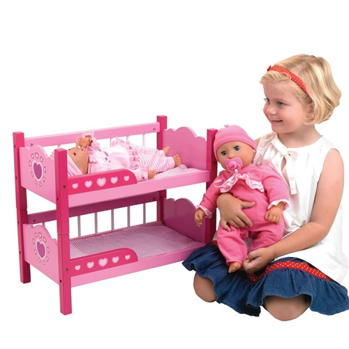 Dolls World - Wooden Bunk Beds