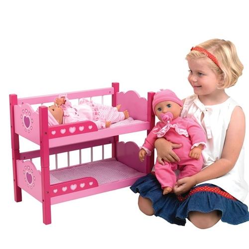 Dolls World Wooden Bunk Beds