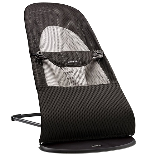 egg Bouncer Balance Soft - Black/Grey Mesh