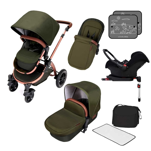 Ickle Bubba Stomp V4 Special Edition All-In-One Travel System + Isofix Base Woodland - Click to view larger image