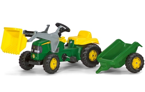 Rolly Toys - Kids John Deere Front loader Tractor and Trailer