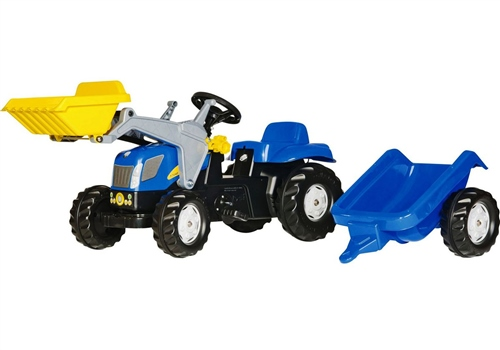 Rolly Toys - Kids New Holland Front loader Tractor and Trailer
