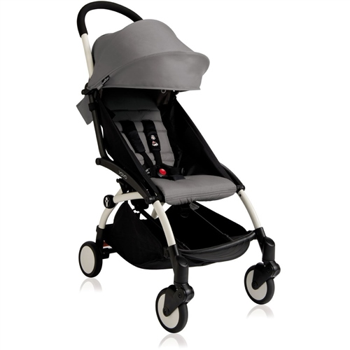BABYZEN YOYO+ Pushchair - Grey (White Frame)