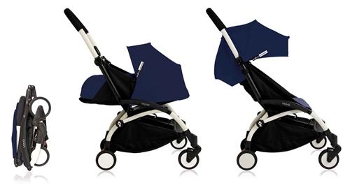 BABYZEN YOYO+ complete stroller - Air France Blue (White Frame)