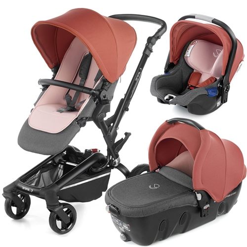 Jane Rider Pushchair, Transporter Carrycot & iKoos i-size Car Seat Travel System