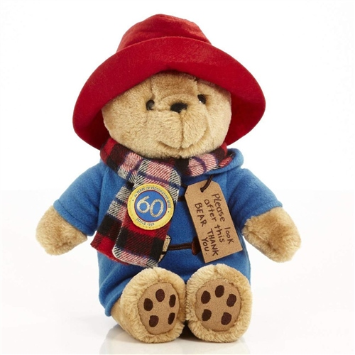 Rainbow Designs - 60th Anniversary Cuddly Paddington Bear with Scarf