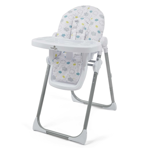 BabyLo Hi Lo Highchair - Silver Lining