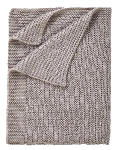Clair De Lune Sparkle Chunky Knit Blanket