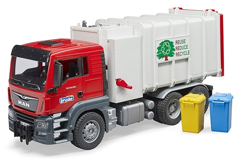 Bruder MAN TGS Side loading garbage truck  - Click to view larger image