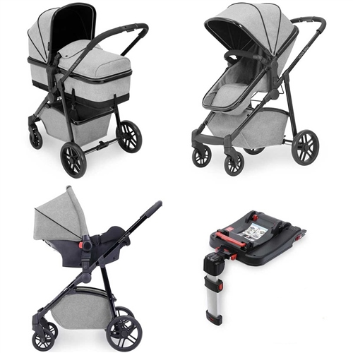 Ickle Bubba Moon 3-in-1 Travel System with isofix base - Space Grey