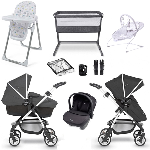 Silver Cross Wayfarer Travel System & Premium Nursery Bundle