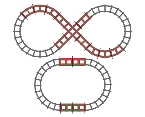 Peg Perego Figure 8 Track Set for Santa Fe Train  - Click to view larger image