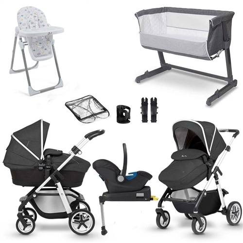 Silver Cross Pioneer Complete Travel System & Premium Nursery Bundle  - Click to view larger image