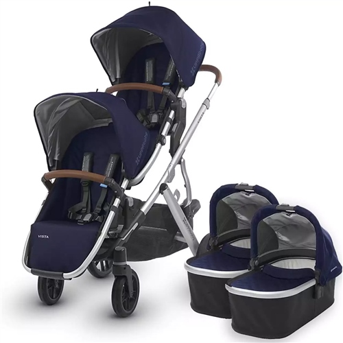 Uppababy - Vista Twin Pushchair & 2 Carrycots