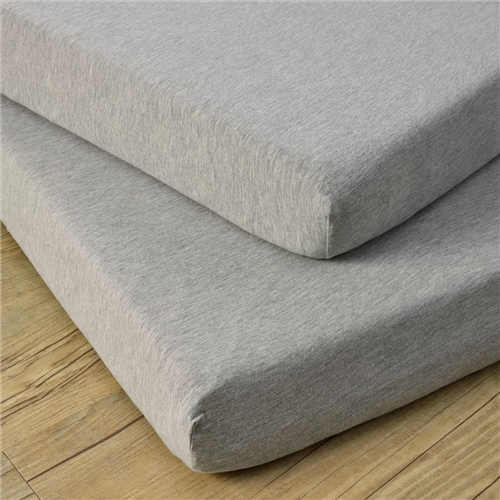 Clair De Lune 2 Cotton Jersey Grey Marl Cot Sheets  - Click to view larger image