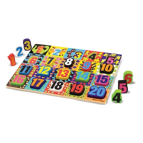 Melissa Doug Jumbo Numbers Chunky Puzzle Samuel Johnstoncom