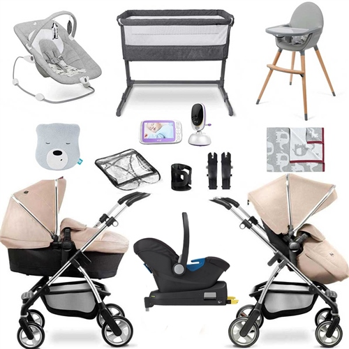 Silver Cross Wayfarer Travel System & Luxury Nursery Bundle