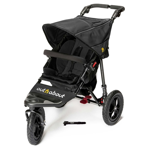 Out 'n' About Nipper Single V4 Pushchair - Raven Black