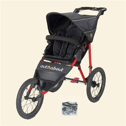 Out 'n' About Nipper Sport Stroller - Carnival Red