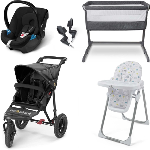 Out 'n' About Nipper Double V4 Premium Travel System & Nursery Bundle