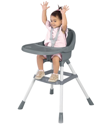 Dolu Dining Highchair - White / Grey