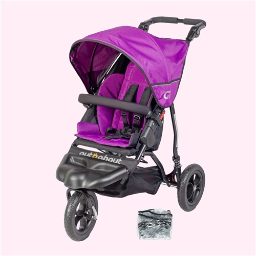 Out 'n' About GT Single Pushchair - Raven Black